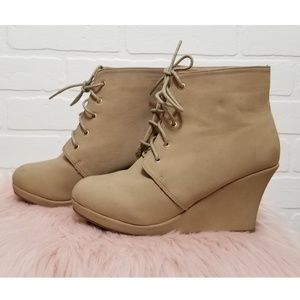 Tan booties in size 8.5